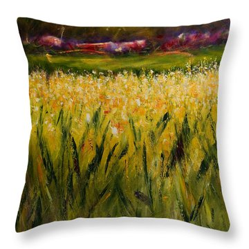 Beyond The Valley Throw Pillow by Shannon Grissom