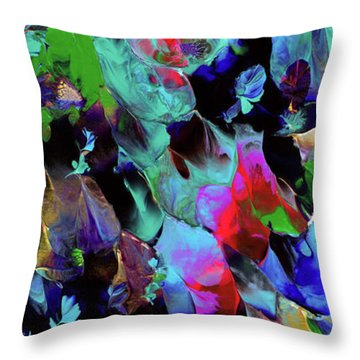 Beyond The Webbed Galaxy Throw Pillow