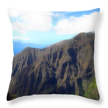 Throw Pillow featuring the photograph Beyond The Windmills by Kenneth Armand Johnson