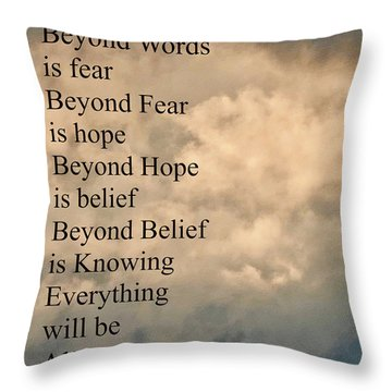 Throw Pillow featuring the painting Beyond Words by Joan Reese