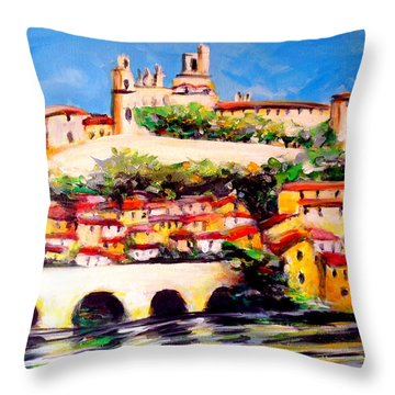 Beziers Reflections Throw Pillow