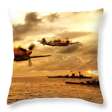 Bf 109 German Ww2 Throw Pillow
