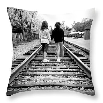 Bff's Throw Pillow by Greg Fortier