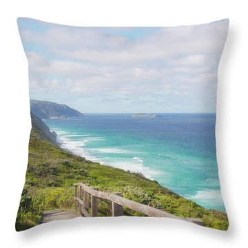 Throw Pillow featuring the photograph Bibbulmun Track Albany Wind Farm by Ivy Ho