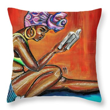 Bible Reading Throw Pillow