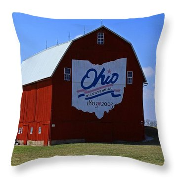 Bicentennial Barn  Throw Pillow