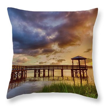 Bicentennial Sunset Throw Pillow