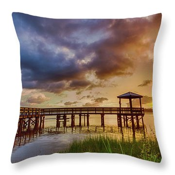 Bicentennial Sunset Throw Pillow