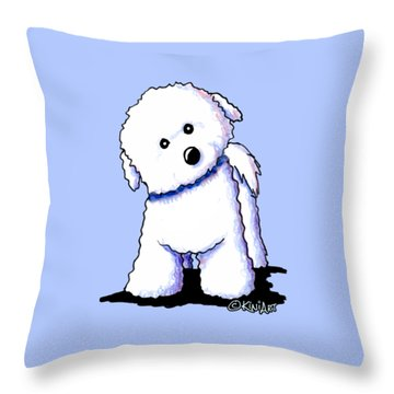 Bichon Boy Throw Pillow