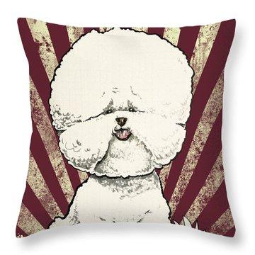 Bichon Frise Revolution Throw Pillow