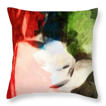 Bicolor Smoking Woman Throw Pillow