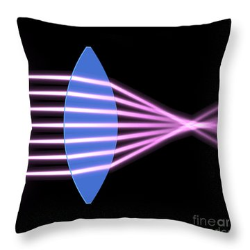 Throw Pillow featuring the digital art Biconvex Lens 2 by Russell Kightley