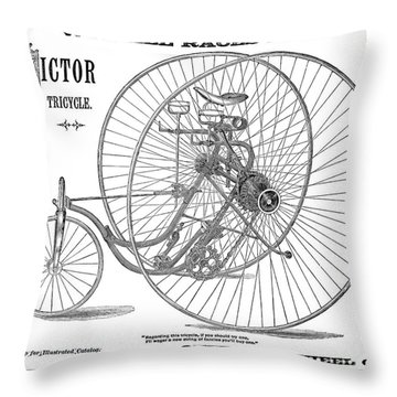 Bicycle, 1884 Throw Pillow by Granger