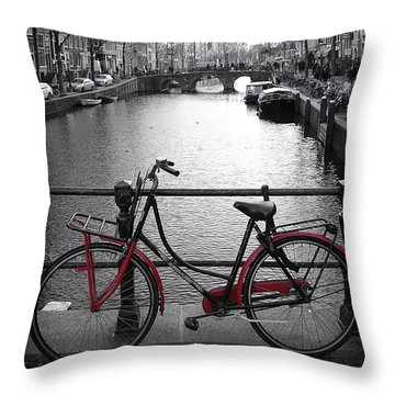 Bicycle 2 Throw Pillow