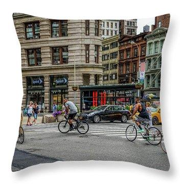 Bicycle Ballet  Throw Pillow