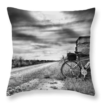 Bicycle Break Throw Pillow