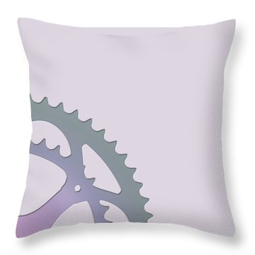 Bicycle Chain Ring - 2 Of 4 Throw Pillow