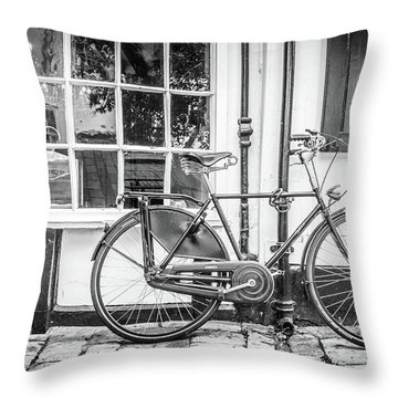Throw Pillow featuring the photograph Bicycle. by Gary Gillette