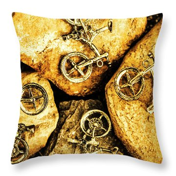 Bicycle Obstacle Course Throw Pillow