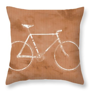 Bicycle On Tile Throw Pillow by Dan Sproul