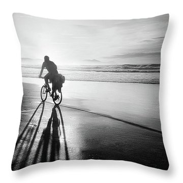 Bicycles Are For The Summer Throw Pillow