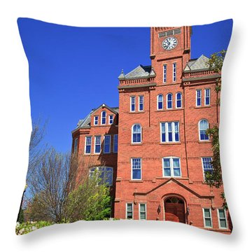 Biddle Hall In The Spring Throw Pillow