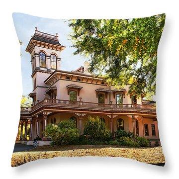 Bidwell Mansion Throw Pillow