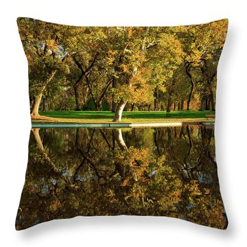 Bidwell Park Reflections Throw Pillow