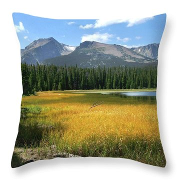 Throw Pillow featuring the photograph Autumn At Bierstadt Lake by David Chandler