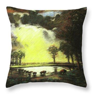 Bierstadt Impression Throw Pillow by Nils Bifano