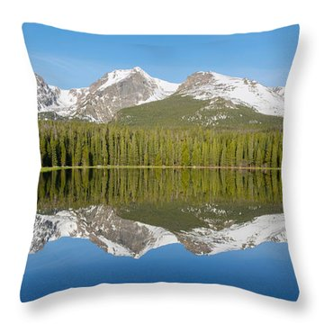 Bierstadt Lake  Throw Pillow by Aaron Spong