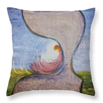 Biet - Meditation In Oil Throw Pillow