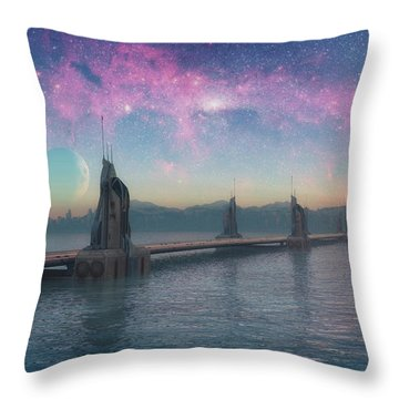 Bifrost Bridge Throw Pillow