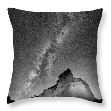 Throw Pillow featuring the photograph Big And Bright In Black And White by Stephen Stookey