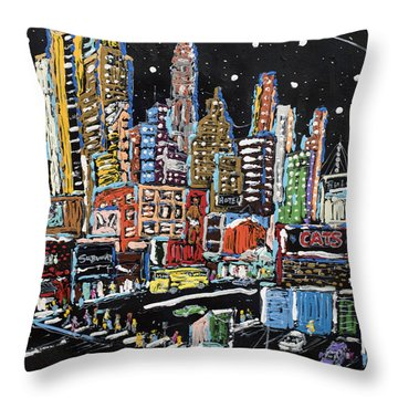 Big Apple Minute Throw Pillow