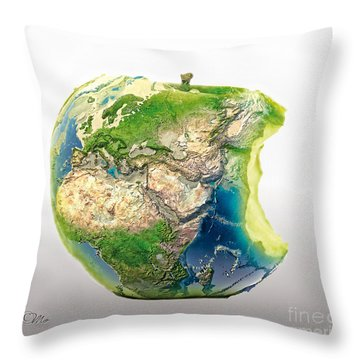 Big Apple Throw Pillow by Mo T