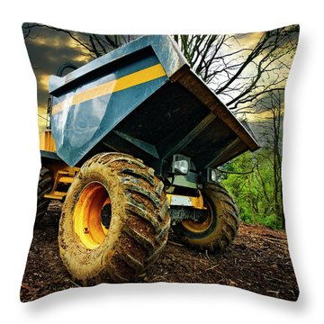 Big Bad Dumper Truck Throw Pillow