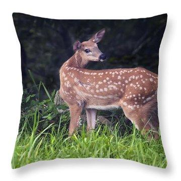 Big Bambi Throw Pillow
