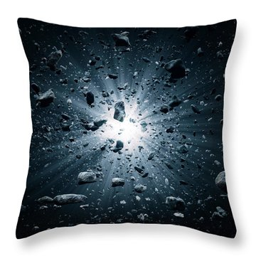 Big Bang Explosion In Space Throw Pillow