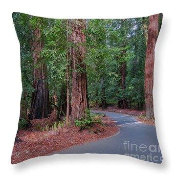 Big Basin Redwoods Throw Pillow