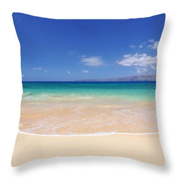 Big Beach Throw Pillow