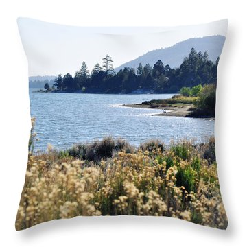 Big Bear Lake Shoreline Throw Pillow