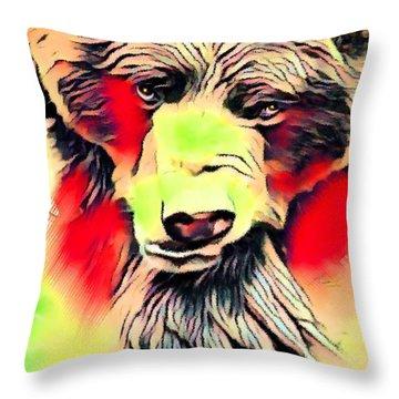 Big Bear Laying Down 1 Throw Pillow