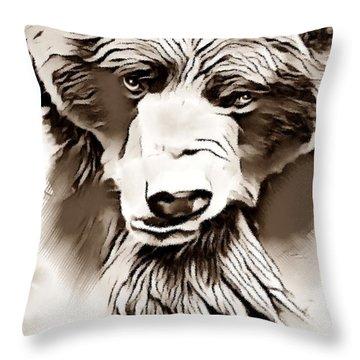 Big Bear Laying Down 2 Throw Pillow