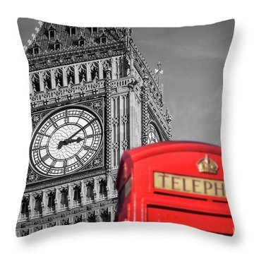 Throw Pillow featuring the photograph Big Ben by Delphimages Photo Creations