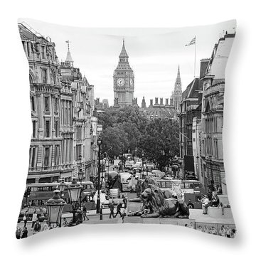Big Ben From Trafalgar Square Throw Pillow