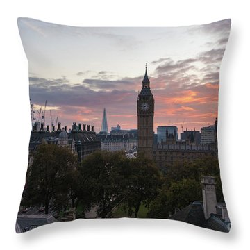 Big Ben London Sunrise Throw Pillow by Mike Reid