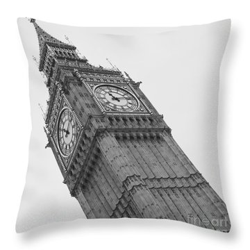 Big Ben Throw Pillow by Louise Fahy