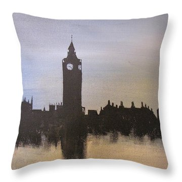 Throw Pillow featuring the painting Big Ben Of London by Gary Smith
