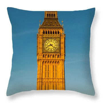 Big Ben Tower Golden Hour London Throw Pillow